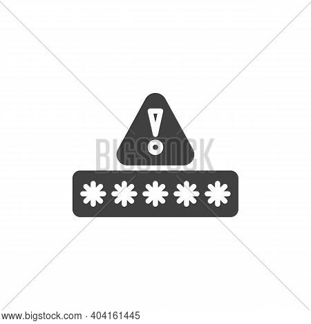 Wrong Password Code Vector Icon. Filled Flat Sign For Mobile Concept And Web Design. Security Passwo