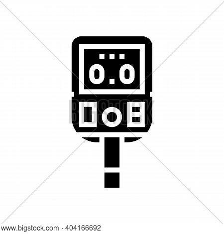 Glucose Monitoring Gadget Glyph Icon Vector. Glucose Monitoring Gadget Sign. Isolated Contour Symbol
