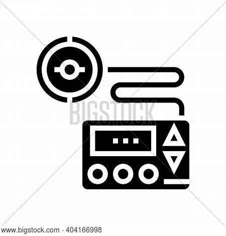 Insulin Pump Glyph Icon Vector. Insulin Pump Sign. Isolated Contour Symbol Black Illustration