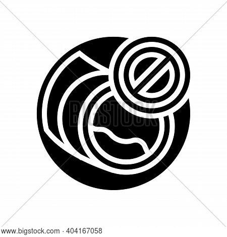 Blockage Of Blood Vessels Glyph Icon Vector. Blockage Of Blood Vessels Sign. Isolated Contour Symbol