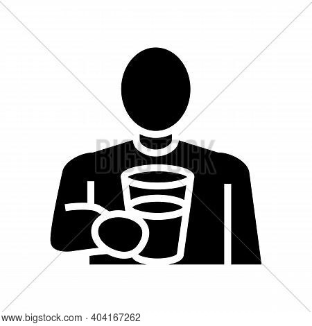Drink Water, Thirst Glyph Icon Vector. Drink Water, Thirst Sign. Isolated Contour Symbol Black Illus