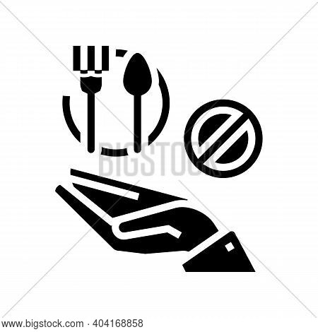 Hungry Poverty Problem Glyph Icon Vector. Hungry Poverty Problem Sign. Isolated Contour Symbol Black