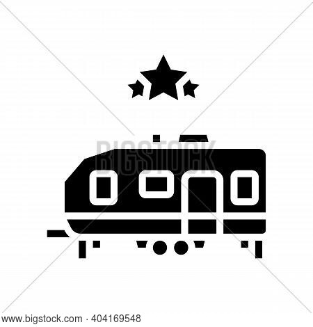 Celebrity Trailer Glyph Icon Vector. Celebrity Trailer Sign. Isolated Contour Symbol Black Illustrat