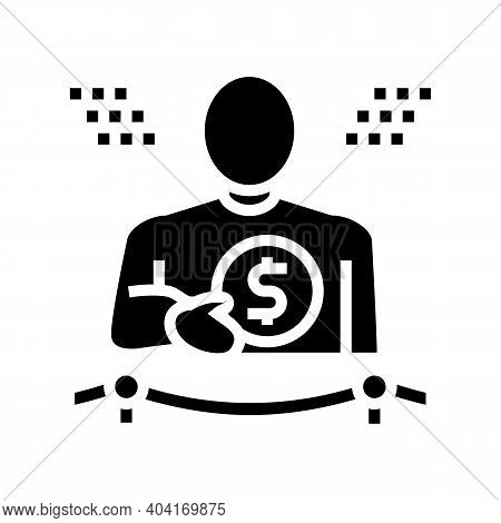 Wealth People Value Glyph Icon Vector. Wealth People Value Sign. Isolated Contour Symbol Black Illus