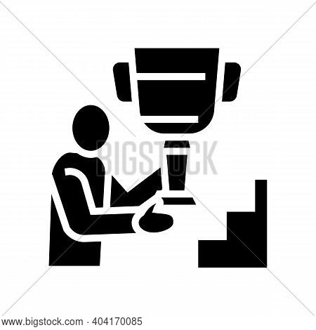 Self-realization People Value Glyph Icon Vector. Self-realization People Value Sign. Isolated Contou