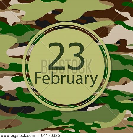 23 February Defender Of The Fatherland Day, Art Video Illustration.