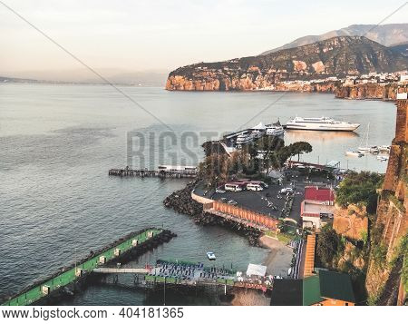 View Of The Exquisite Coastline And Picturesque Country Side Of Sorrento, Campania, Italy.