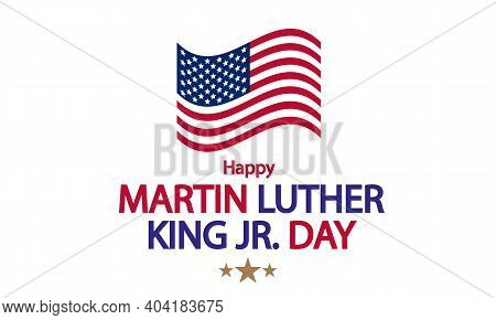 Martin Luther King Day Poster, Art Video Illustration.