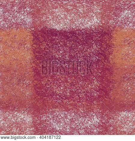 Seamless Checkered  Weave Fluffy Grunge Striped Pattern For Plaid, Carpet, Mat , Serviette In Violet