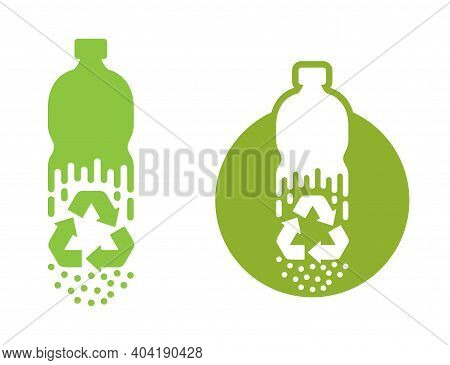 Recycle Waste Biomaterials And Biodegradable Sticker - Disappearing Plastic Bottle Turns To Granules