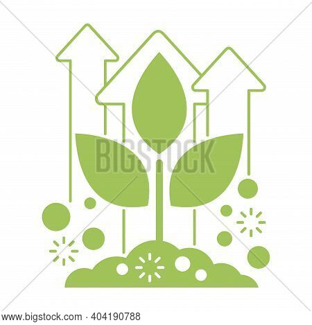 Organic Fertilizer Emblem - Farming Agriculture Useful Component - Naturally Occurring Organic Waste
