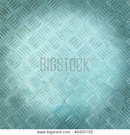 Background Of Metal Diamond Plate Pattern