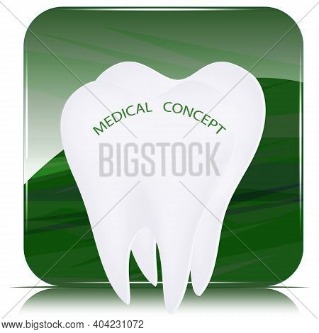 Tooth Root On The Artistic Background - Vector. Happy Dentist Day. International Day Of The Dentist.