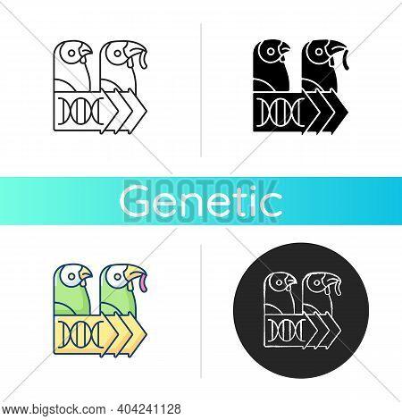 Evolutionary Genetics Icon. Animal Cloning. Dna Experiment. Species Population. Biology Innovation.