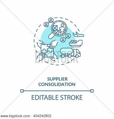 Supplier Consolidation Concept Icon. Product Quality Improvement Idea Thin Line Illustration. Value
