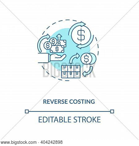 Cost Reduction Concept Icon. Cost Reduction Strategies Idea Thin Line Illustration. Company Budget O