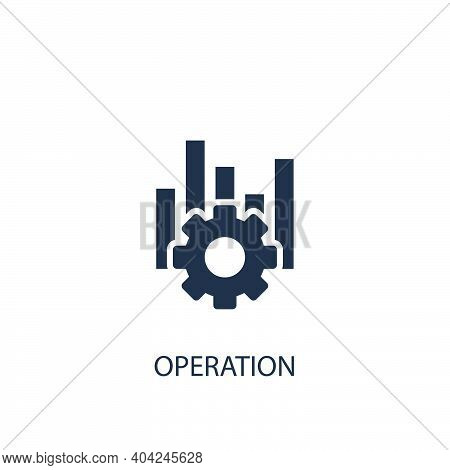 Operation Concept Icon. Simple One Colored Business Element Illustration. Vector Symbol Design From