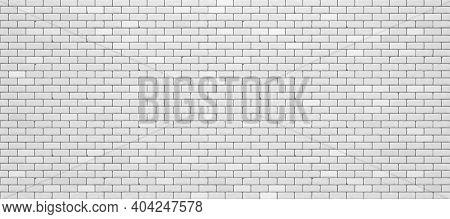 Realistic White Brick Wall. Vector Illustration Eps 10