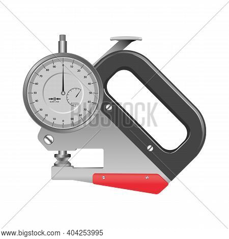 Measuring Instrument On A White Background, High Accuracy. Vector Illustration