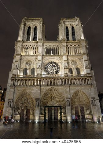 Notre Dame By Night, Paris, France