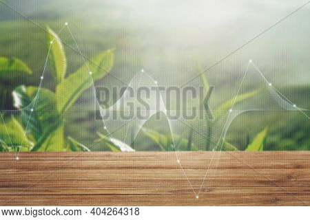 Smart agriculture green plant product farming technology background