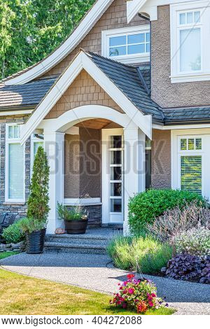 An entrance of a house in Vancouver, Canada.