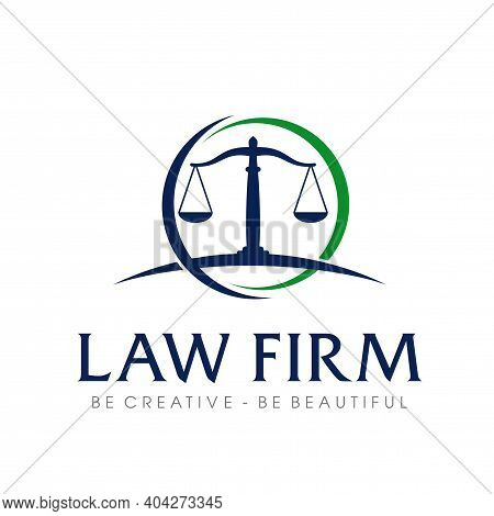 Law Firm Logo. Lawyer And Attorney Logo Vector