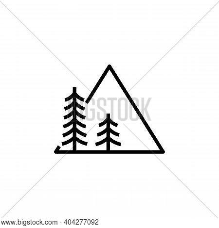 Logo Sample Mountain. Mountain Logo Vector. Mountains Logo Vector Illustration For Outdoor Adventure