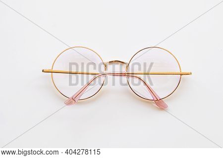 Spectacles Circle Style Health Care For Eyes Computer Light Protect Of Lifestyle Arrangement Flat La