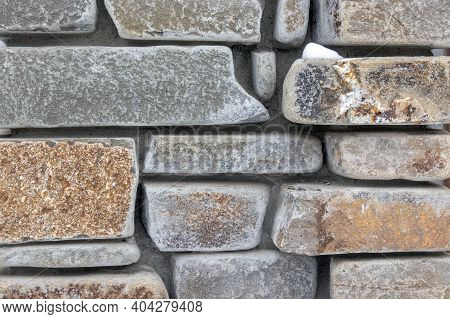 Stone Wall Texture. Old Castle Stone Wall Texture, Natural Stone Background.