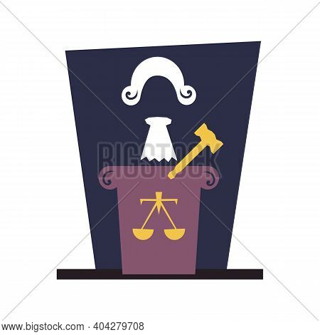 Forensic Paraphernalia Wig Scales And Hammer. 2d