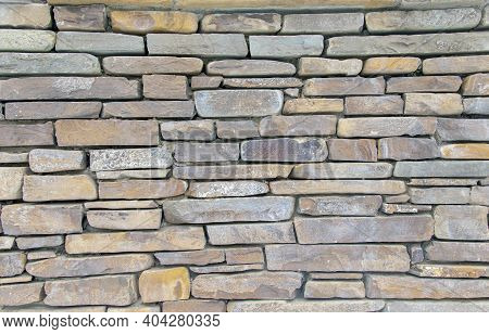 Natural Background Of Natural Stone. Stone Wall Texture. Old Castle Stone Wall Texture, Natural Ston