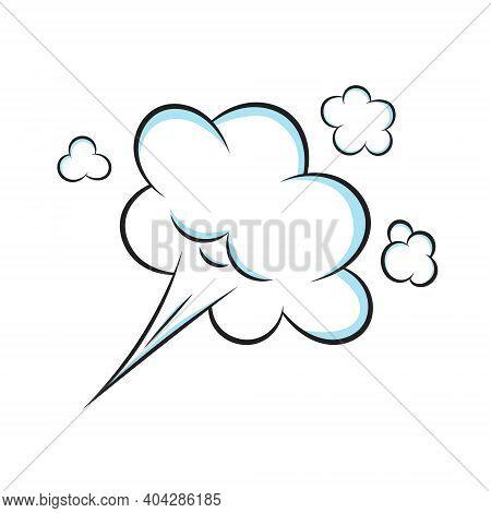 Smelling Pop Art Comic Book Cartoon Fart Cloud Flat Style Design Vector Illustration. Bad Stink Or T