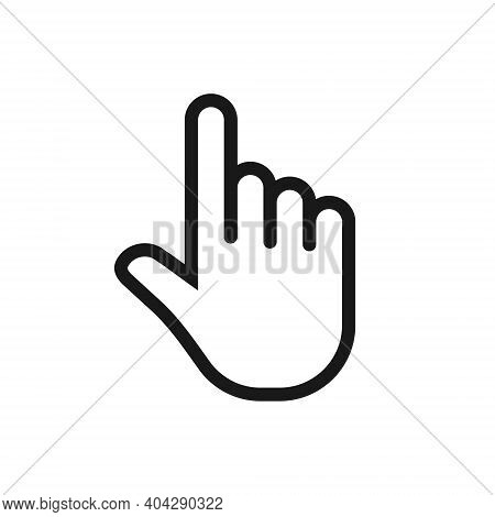 Click Hand Vector Icon. Pointing Finger Sign. Cursor Pointer Symbol. Web And Application Interface I