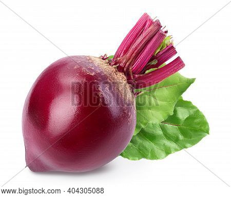Beetroot Isolated On White Background With Clipping Path And Full Depth Of Field