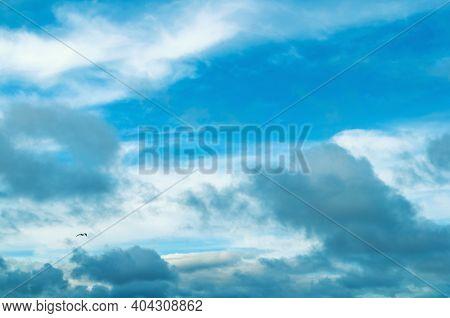 Sky landscape, sky background, colorful sky view. Dramatic blue sky background, vast sky landscape panoramic scene, dramatic sky landscape, sunny sky landscape, cloudy sky view