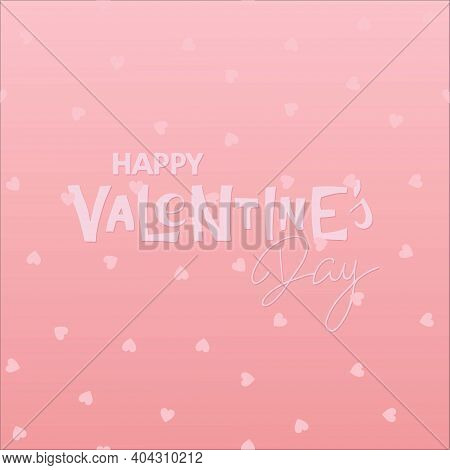 Pink Vector Background To Valentines Day Design. Valentines Day Background. Happy Valentines Day Han