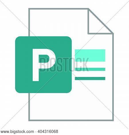 Modern Flat Design Of Logo Pub Publisher Document File Icon