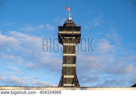 Copenhagen, Denmark - January 03, 2021: The Observational Tower In Copenhagen Zoo. Copenhagen Zoo Is
