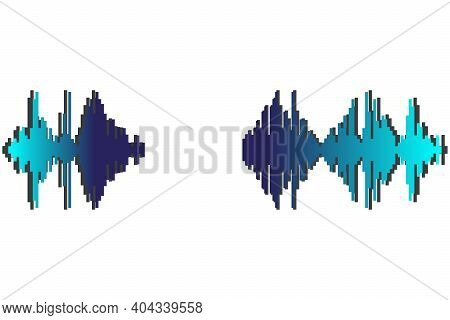 Pulse Music Player. Audio Wave Logo. Sound Equalizer Element. Jpeg