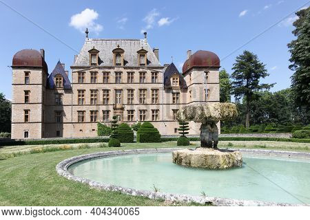 Fareins, France - May 30, 2020: Chateau De Flecheres In Fareins, France. Built In One Go From 1606 T