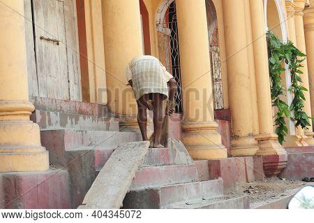 A Hindu Temple In Gorkana, India