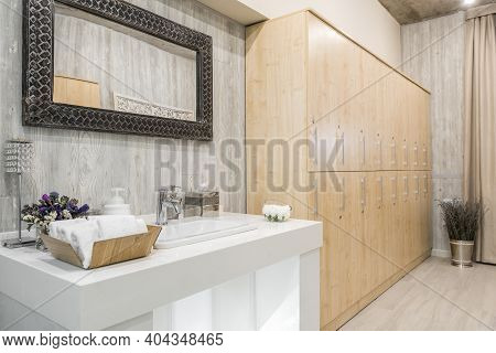 Interior Of The Shower Room