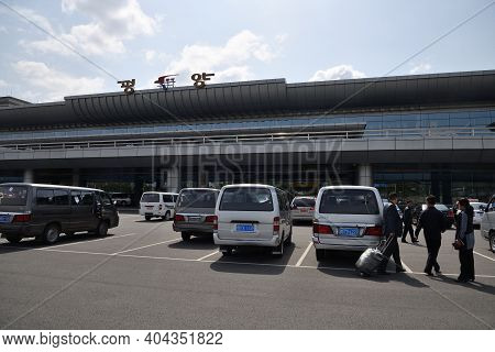 Pyongyang, North Korea - April 29, 2019: Building Of The Pyongyang International Airport Also Known