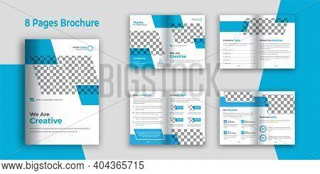 Business Bi-fold 8 Pages Company Profile Brochure Template