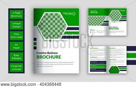 Company Pages Brochure, Corporate Bi-fold Brochure Template
