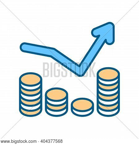 Penny Stock Rgb Color Icon. Business Investment Strategy. Market Trading. Increase Income. Volatile