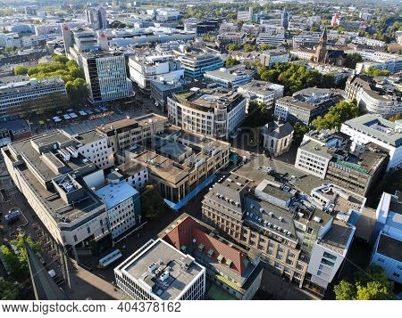 Essen, Germany - September 20, 2020: City View Of Essen, Germany. Essen Is The 9th Biggest City In G