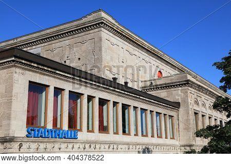 Muelheim A.d. Ruhr, Germany - September 21, 2020: Stadthalle Concert And Event Venue In Muelheim An