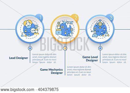 Game Designers Types Vector Infographic Template. Lead Designer Presentation Design Elements. Data V